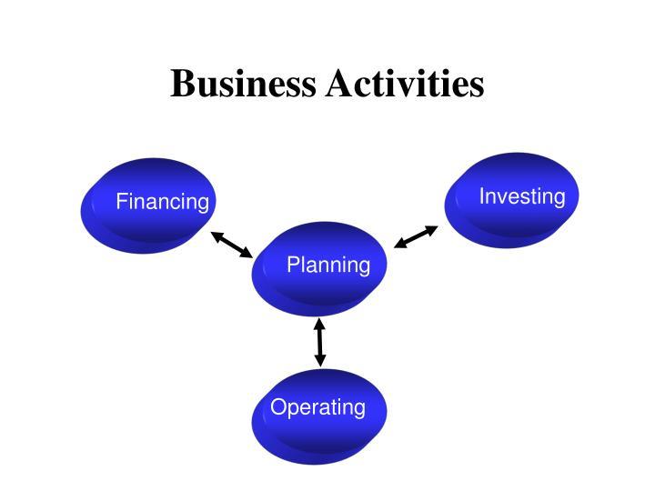 business activities n.