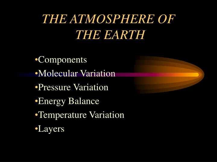 the atmosphere of the earth n.