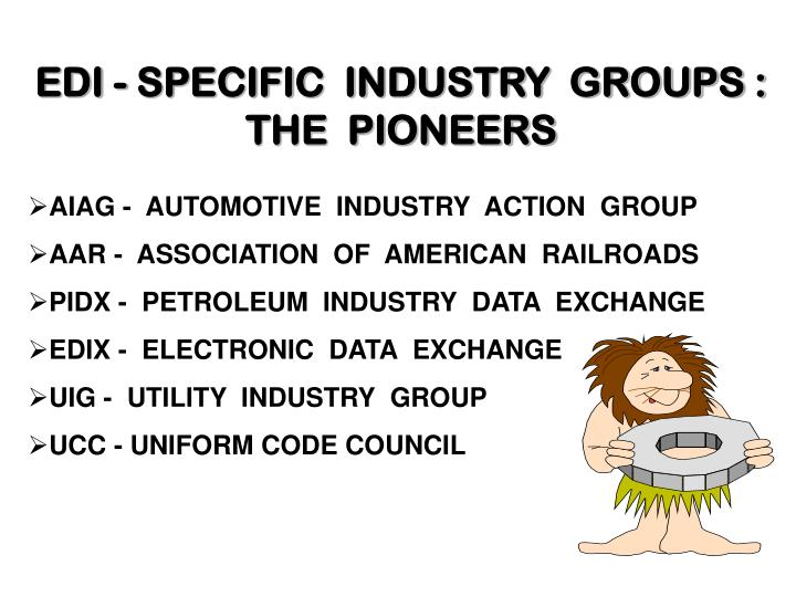 EDI - SPECIFIC  INDUSTRY  GROUPS :