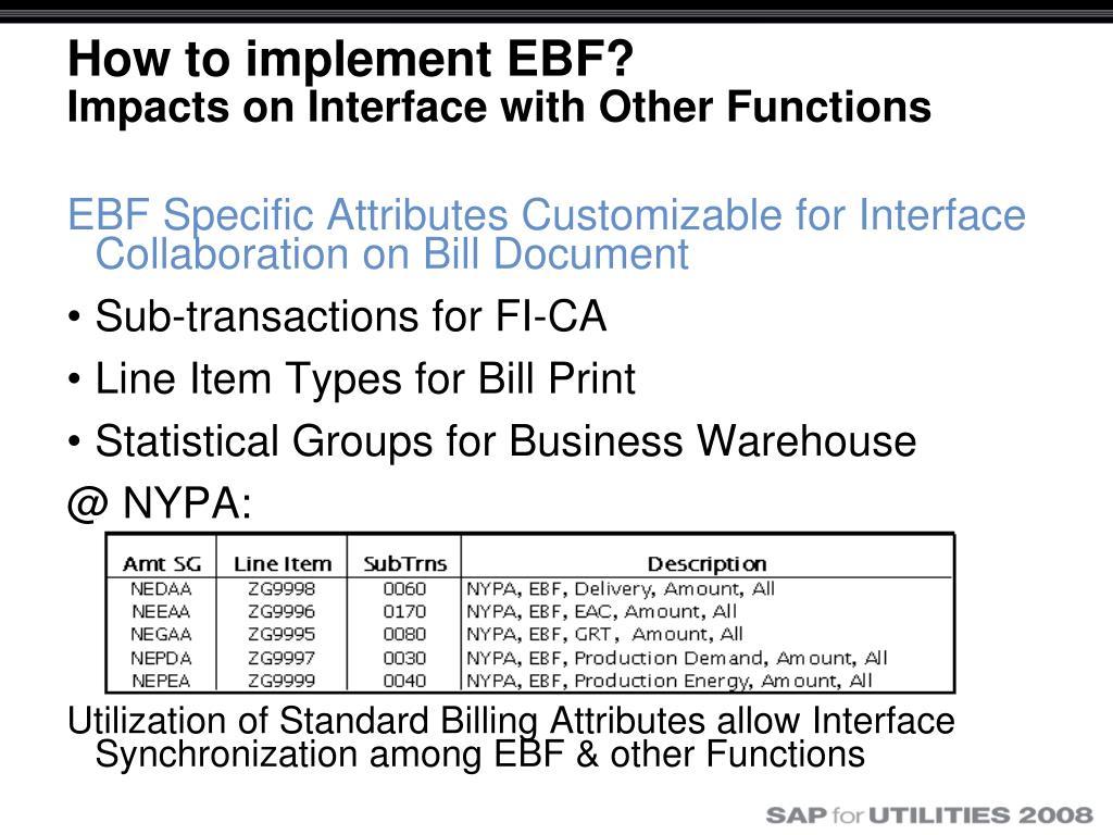 PPT - Easy Bill-correction Framework (EBF) Implementation at NYPA