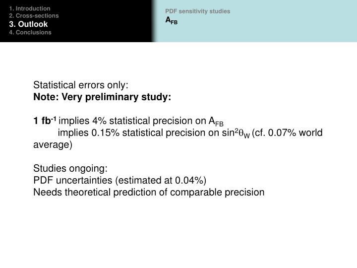 PDF sensitivity studies