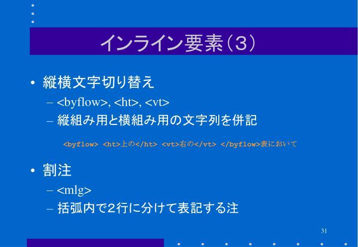 インライン要素(3)