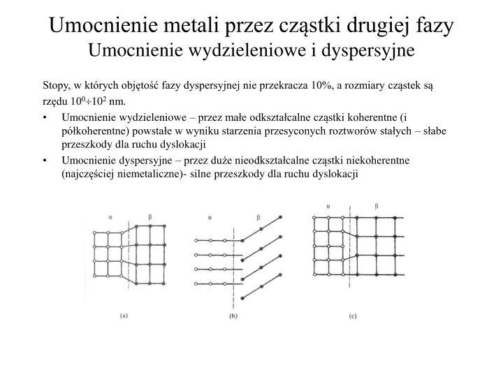 umocnienie metali przez cz stki drugiej fazy umocnienie wydzieleniowe i dyspersyjne n.