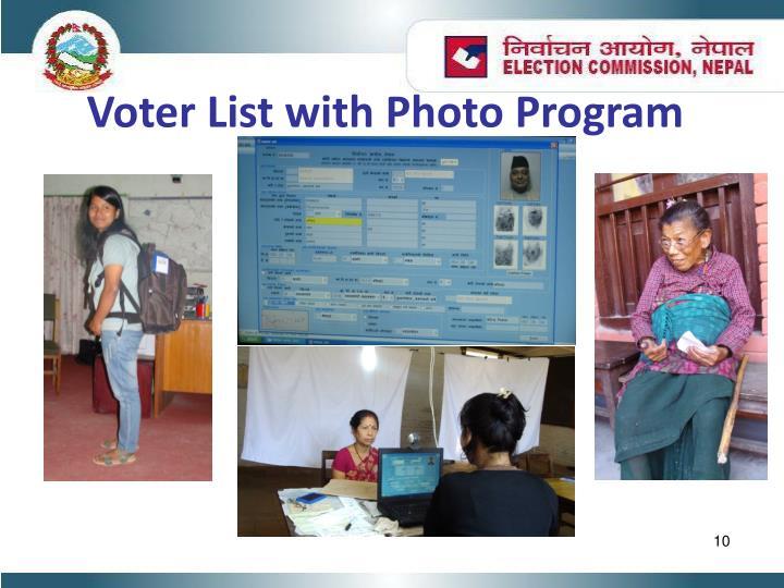 Voter List with Photo Program