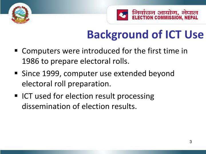 Background of ICT Use