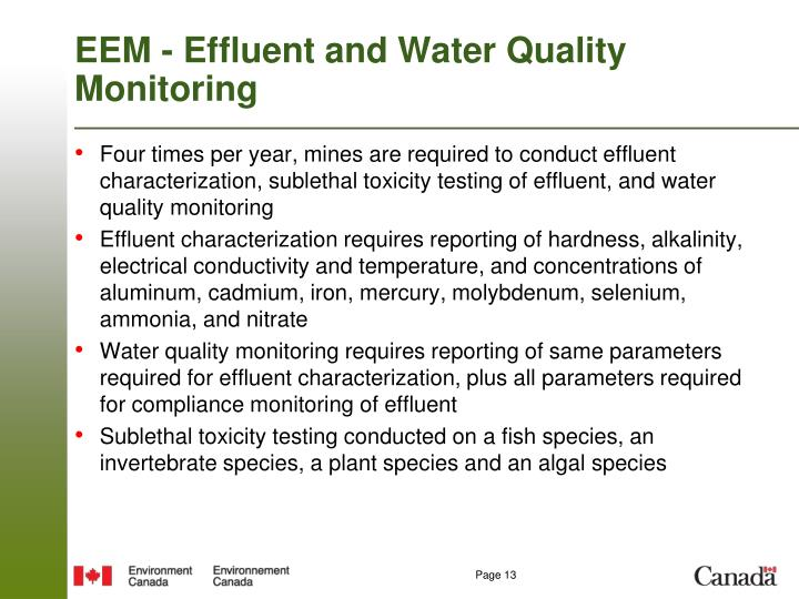 EEM - Effluent and Water Quality Monitoring