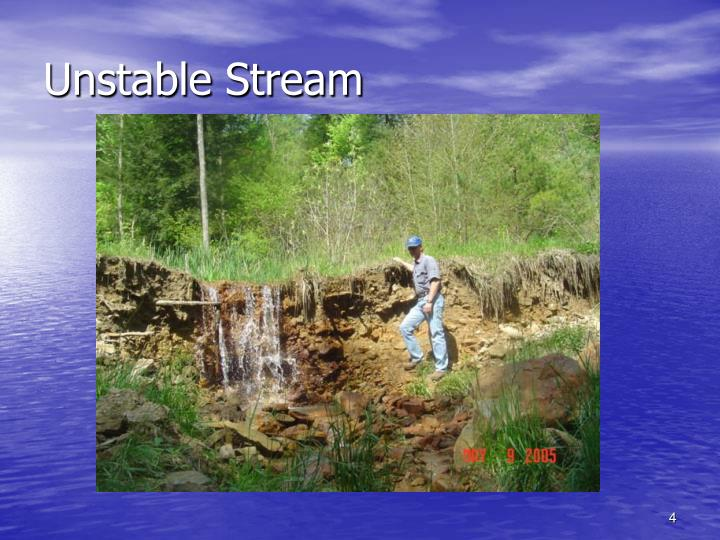 Unstable Stream