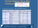 human obesity gene map database1