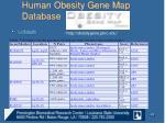 human obesity gene map database5