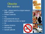 obezite risk fakt rleri