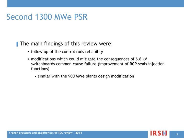Second 1300 MWe PSR