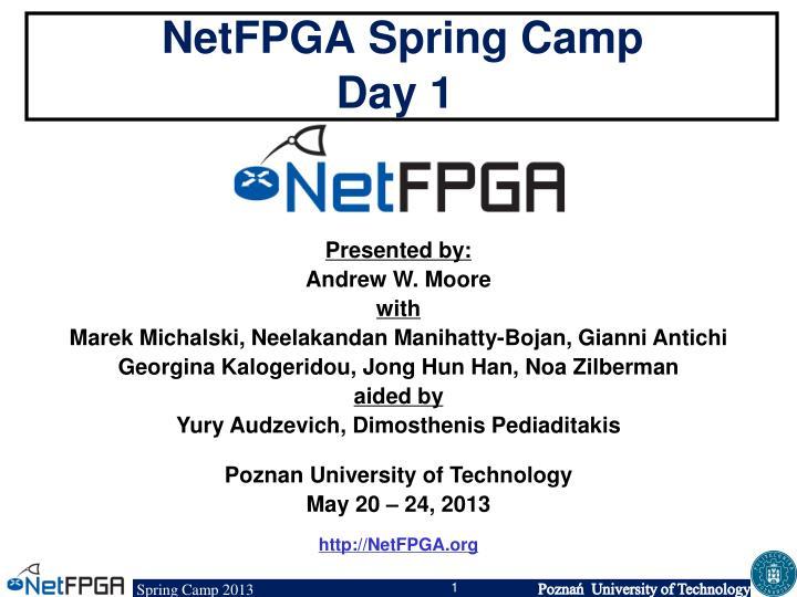 netfpga spring camp day 1 n.