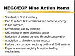 negc ecp nine action items