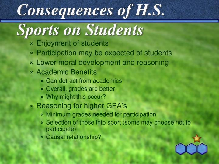 Consequences of H.S. Sports on Students