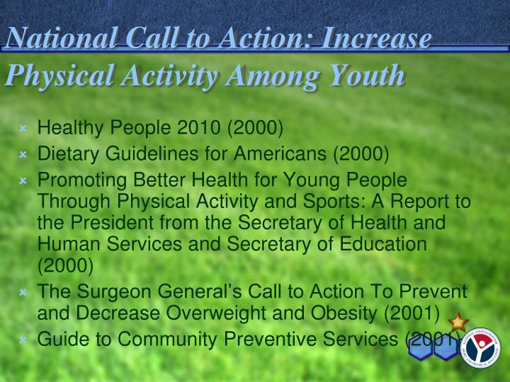 National Call to Action: Increase