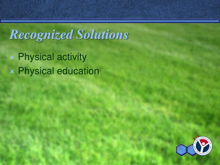 Recognized Solutions