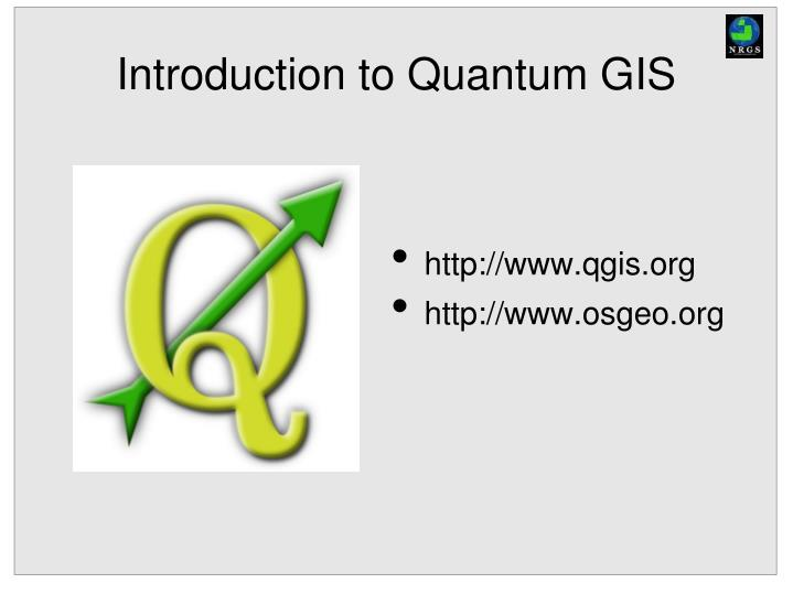 introduction to quantum gis n.