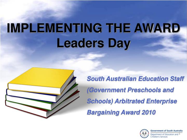implementing the award leaders day n.