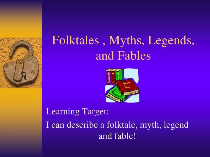 folktales myths legends and fables n.