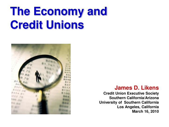the economy and credit unions n.