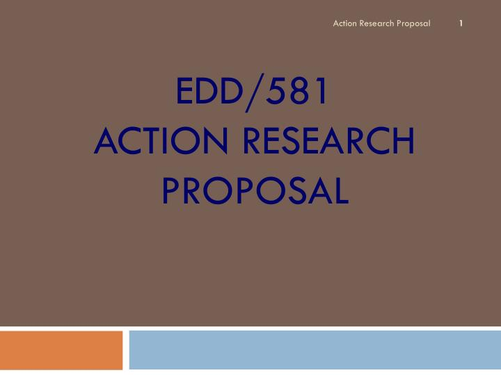 action research paper edd 580