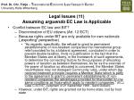 legal issues 11 assuming arguendo ec law is applicable