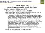 legal issues 12 assuming arguendo ec law is applicable