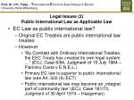 legal issues 2 public international law as applicable law