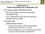 legal issues 3 public international law as applicable law