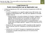 legal issues 4 public international law as applicable law