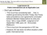 legal issues 6 public international law as applicable law
