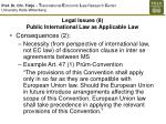legal issues 8 public international law as applicable law