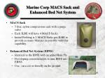 marine corp macs sack and enhanced bed net system