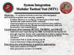 system integration modular tactical vest mtv