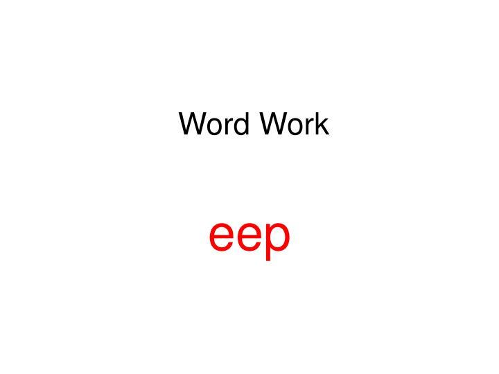 word work n.