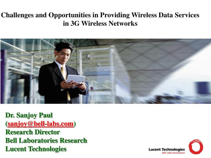 challenges and opportunities in providing wireless data services in 3g wireless networks n.