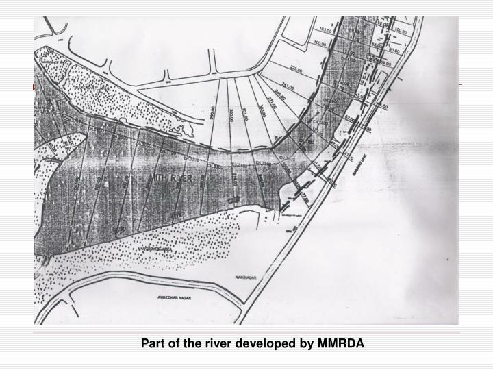 Part of the river developed by MMRDA