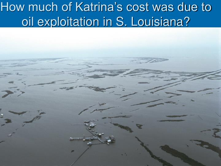 How much of Katrina's cost was due to oil exploitation in S. Louisiana?