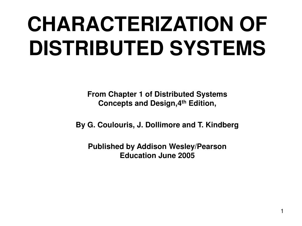 Ppt Characterization Of Distributed Systems Powerpoint Presentation Free Download Id 3291726
