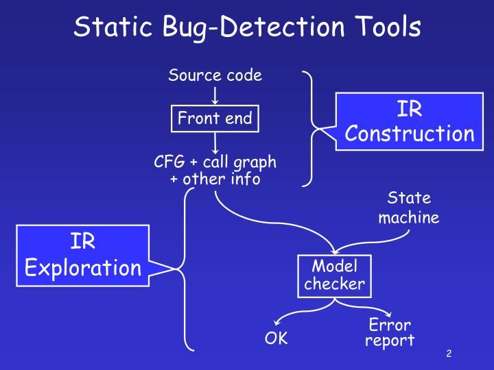 Static bug detection tools