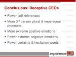 conclusions deceptive ceos