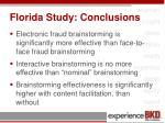 florida study conclusions
