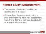 florida study measurement