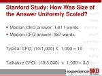 stanford study how was size of the answer uniformly scaled