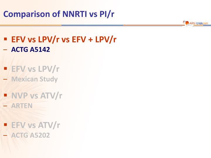comparison of nnrti vs pi r n.