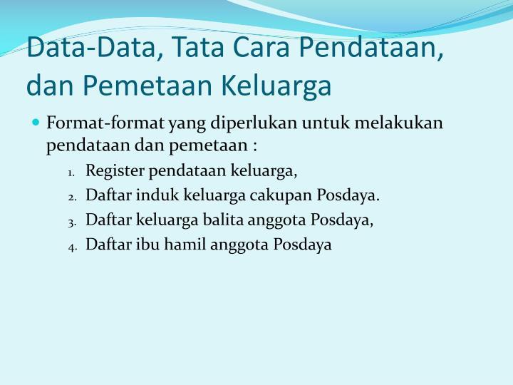 data data tata cara pendataan dan pemetaan keluarga n.