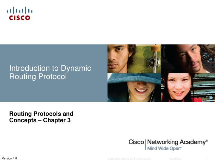 introduction to dynamic routing protocol n.