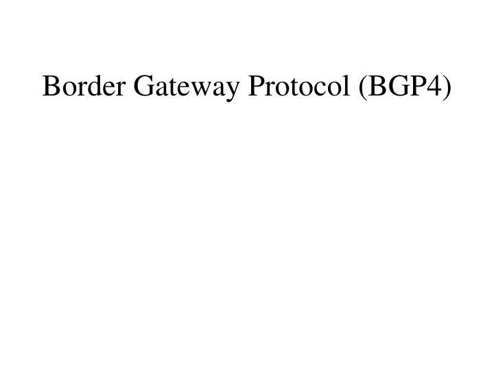 border gateway protocol bgp4 n.