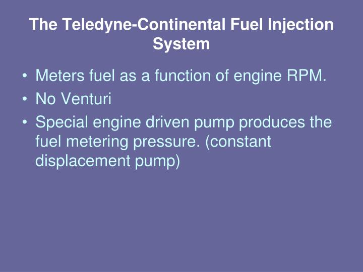 The Teledyne-Continental Fuel Injection System