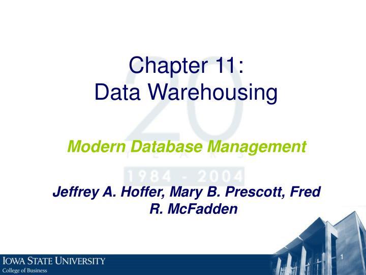 chapter 11 data warehousing n.